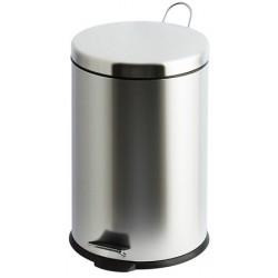 Lot de 6 poubelles à pédale inox brillant 3 litres