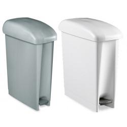 Lot de 3 poubelles à pédale espaces restreints HACCP