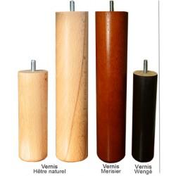 jeu de 4 pieds cylindriques vernis diam 5 x  H15 cm