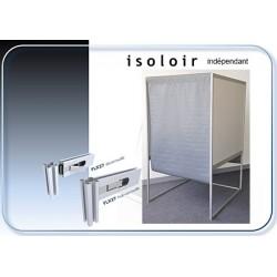 Isoloir montage facile structure alu rideau PVC M1 case handicapé indépendante 100% recyclable