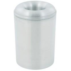Corbeille à papier anti-feu ronde aluminium 13 litres