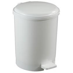 Poubelle à pédale ronde polypropylène blanc 20 L