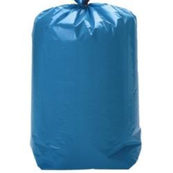 Sacs poubelle bleus 100l à lien coulissant qualité plus 40 microns (le carton de 100)