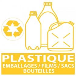 Autocollant tri sélectif Emballages Plastiques 20 x 20 cm