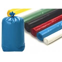 Sacs poubelle 110L bleus usage courant 18 microns (le carton de 500)