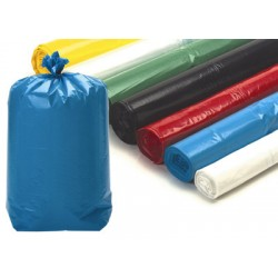 Sacs poubelle 110L blancs usage courant 18 microns (le carton de 500)