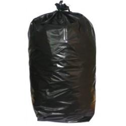 Sacs poubelles renforcés noirs 130L 55 microns (le carton de 100)