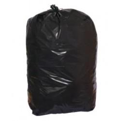 Sacs poubelles déchets lourds noirs 130L 75 microns (le carton de 100)