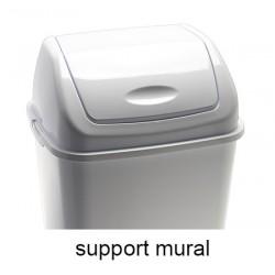 Support mural pour poubelle à couvercle basculant Emilie polypropylène 35 l