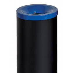 Corbeille antifeu Nina acier 90 l bleu