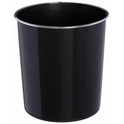 Corbeille à papier Agathe 10 l noire
