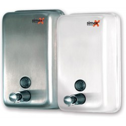 Distributeur de savon  vertical 1200 ml inox brillant