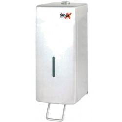 Distributeur de savon vertical 1000 ml inox avec levier
