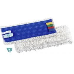 Frange microfibre blanche 40x10,5cm