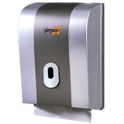 Distributeur d'essuie-mains Elegance 600 feuilles ABS gris metal