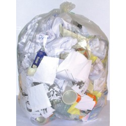 Sacs poubelle 100L transparents renforcés 30 microns (le carton de 200)