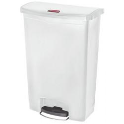 Collecteur à pédale HACCP SlimJim StepOn large 90 L blanc