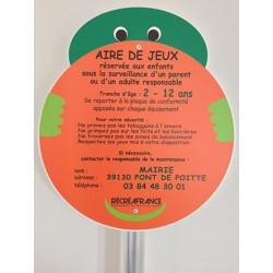 Panneau aire de jeux 35 X 40 cm avec poteau H 200 cm