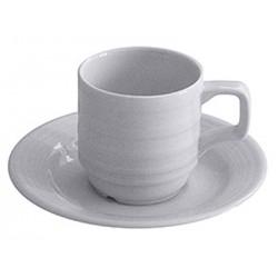Lot de 12 tasses à café et sous tasse Marbella 80 cc