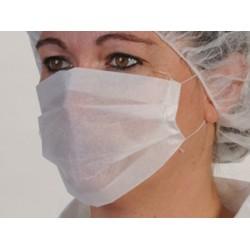 Masque papier blanc 1 pli (le carton de 10000)