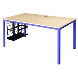 Table informatique maternelle Amy 140x65 cm 2 obturateurs