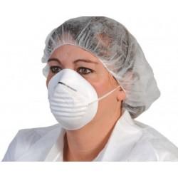 Masque d'hygiène papier coquille anti-poussiere blanc (le carton de 1000)