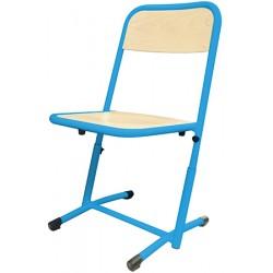Chaise scolaire Véro appui sur table et réglable T4 à T6 hêtre