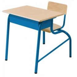 Table scolaire avec siège attenant Alice monoplace 70x50 cm stratifié