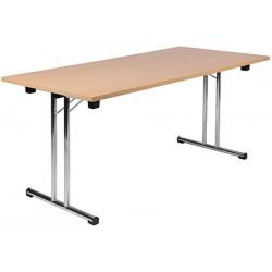 Table pliante à dégagement lateral Mélissa 160x80 cm mélaminé