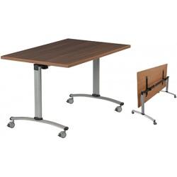 Table rabattable à dégagement latéral Amélie 140x70 cm mélaminé