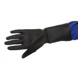 Gant néoprène noir flocké coton (le carton de 100 paires)