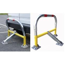 Barrière de parking flexible avec clés différentes coloris jaune