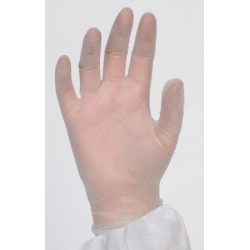Gant d'examen vinyle ecru AQL 1,5 qualité médicale (le carton de 1000)