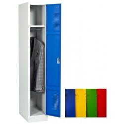 Vestiaire industrie propre 1 case sur socle L31 x P50 x H180 cm