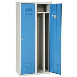 Vestiaire industrie salisante 3 case sur socle L120 x P49 x H180 cm