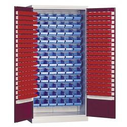 Armoire haute d'atelier à portes battantes 152 boites à bec L100 x P43,5 x H 199 cm