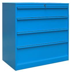 Armoire d'atelier 4 tiroirs L100,5 x P59 x H105,2 cm