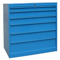 Armoire d'atelier 6 tiroirs L100,5 x P59 x H105,2 cm