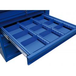 Séparateurs réglables pour tiroir H12,5 cm 5 rangées