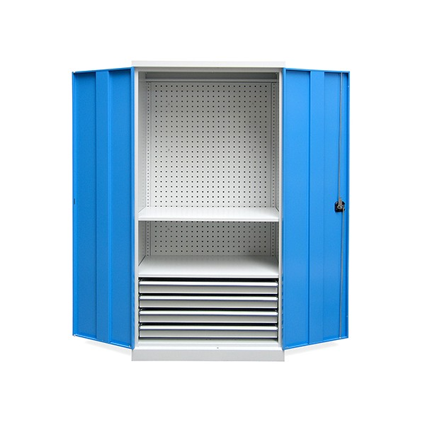 Armoire d'atelier Techno 3 étagères 1 tiroir L95 x P50 x H195 cm