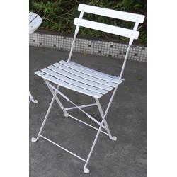 Lot de 2 chaises pliantes Bérénice lattes PVC