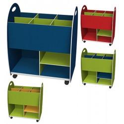 Caisse de rangement bas dessus 6 cases 1 étagère 1 niche L60 x P35 x H75 cm