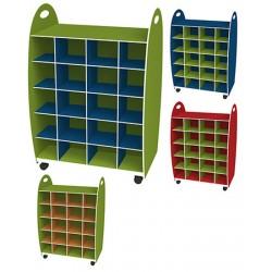 Range doudous double entrée  L60 x P35 x H88 cm