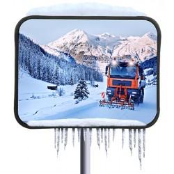 Miroir multi-usages inox 400x600 mm antigivre garantie 10 ans