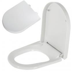 Abattant WC blanc silencieux déclipsable