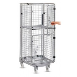 Roll_container de transport emboitable avec tablette rabattable L72,5xP81xH182 cm
