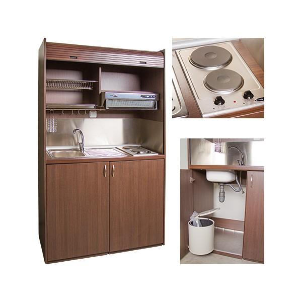 Mini cuisine quip e tout en un avec volet roulant l125 cm - Mini cuisine equipee ...