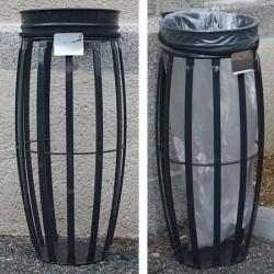 Support de sac Vigipirate 80 à 130 L avec protection sur poteau