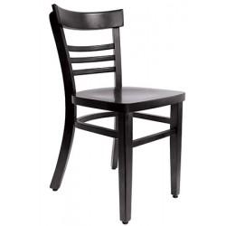 Lot de 2 chaises Bistro hêtre wengé