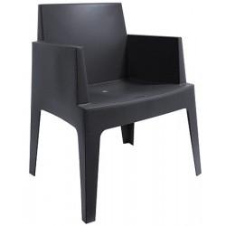 Lot de 4 fauteuils empilables Box